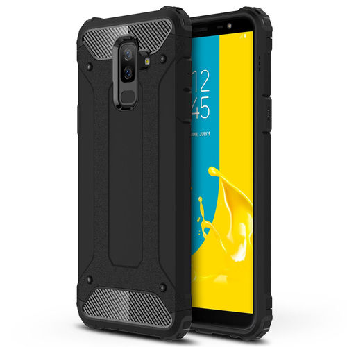 Military Defender Tough Shockproof Case for Samsung Galaxy J8 - Black